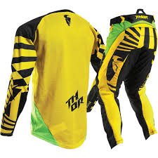 youth motocross jerseys thor 2017 mx kids new fuse dazz green yellow jersey pants youth