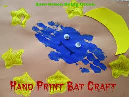 hand print bat craft easy art craft project for preschool or