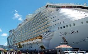 largest ship in the world world s largest cruise ship sails into european waters