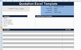 quotation template free quotation template excel uk free project management templates