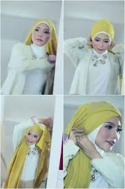 tutorial hijab resmi tutorial hijab simple dengan scarf panjang untuk acara formal