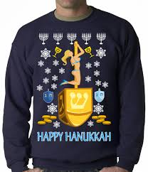 hanukkah sweater hanukkah on a dreidel crewneck sweatshirt