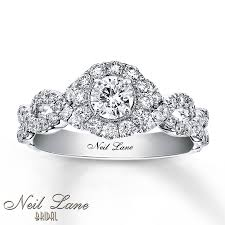 White Gold Wedding Rings by Kay Neil Lane Engagement Ring 1 Ct Tw Diamonds 14k White Gold