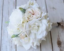 gardenia bouquet faux gardenia peonies and roses wedding flower bouquet silk