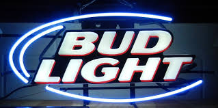 bud light lighted sign neon signs bar signs plus