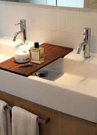 enjoyable trough sink bathroom double sinks trough sink inch