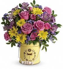 florist alexandria va teleflora s blooming pail bouquet in alexandria va landmark florist