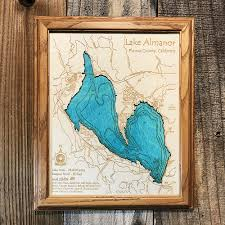 Lake Mead Map Lake Mead Az Nv Single Depth Nautical Wood Chart 8