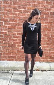 black necklace dress images Chunky necklace obsession style not brand jpg