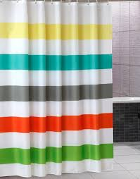 Colored Shower Curtain Uphome Colorful Rainbow Cross Stripe Pattern Bathroom