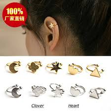 clip on stud earrings simple stud earrings fashion moon heart clip stud earring