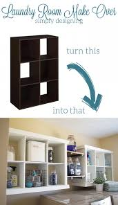 Laundry Room Storage Shelves Laundry Room Make Transformation With Diy Shelving Cubby