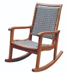 Patio Rocking Chairs Wood by Resin Wicker U0026 Eucalyptus Wood Rocking Chair Gray