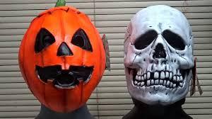 silver skull halloween mask trick or treat studios halloween iii skull u0026 pumpkin mask youtube
