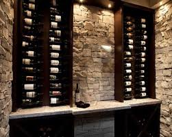 Wall Bar Ideas by Small Wine Cellar Idea Love The Stone And Color Of The Wood The