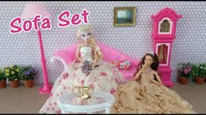 frozen elsa barbie doll sofa playsetバービーのソファセットsofa