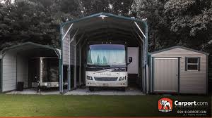 rv storage garage carport com buy custom carports garages or metal buildings by photo