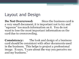 What Information Do You Put On A Business Card What To Include And Design Hints Ppt Download