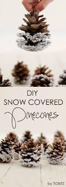 diy snow covered pinecones rustic charm pinecone and