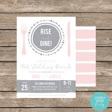 wedding invitations jackson ms rise and dine post wedding breakfast brunch invitation celebrate