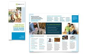 home inspection u0026 inspector tri fold brochure template word