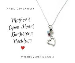 children s birthstone necklace april giveaway s open heart birthstone necklace my forever