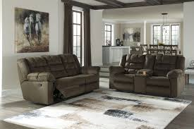Reclining Loveseat W Console Mort Umber Reclining Sofa U0026 Double Reclining Loveseat W