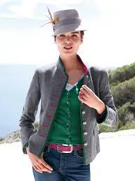 münchner manufaktur country style jacket grey mélange