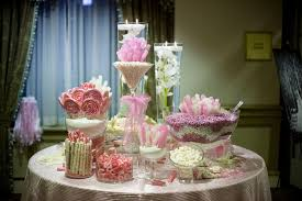 Candy Buffet Table Ideas Endearing Candy Bar Table With Black And Pink Candy Buffet Candy