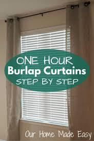 best 25 burlap curtains ideas on pinterest burlap window