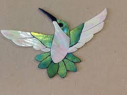 Garden Stone Craft - precut stained glass art kit female hummingbird mosaic inlay