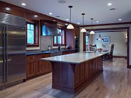 mission style cabinets kitchen traditional with artisan tile