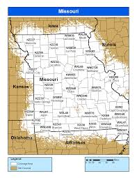 County Map Of Missouri Noaa Weather Radio Missouri