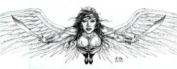 avenging angel drawing u2013 clyde caldwell online