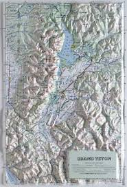 grand teton map grand teton national park raised relief map from onlyglobes com
