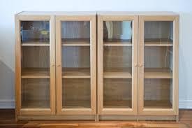 Door Bookshelves by Bookcase With Glass Doors Ikea Billy Bookcase With Glass Doors