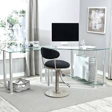 Black And Chrome Computer Desk Glass And Chrome Computer Desk Black Glass Chrome Modern Computer