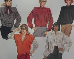 bow tie blouse pattern mccalls 7198 miss 10 pullover