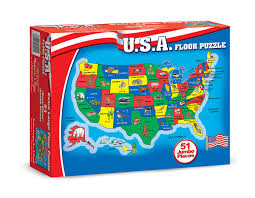 United States Map Puzzle by Geography Games Washington English Center