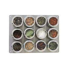 13 pc spice rack seasoning organizer stainless steel magnetic