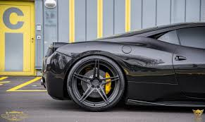 ferrari 458 custom pure black ferrari 458 italia on adv 1 wheels by luxury custom