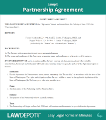 Real Estate Agent Business Plan Template Pdf by Partnership Agreement Form Partnership Agreement Template Us