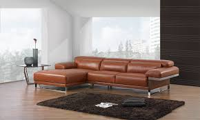 Luxury Leather Sofa Style Brown Luxury Leather Sofa Bed With Adjustable Headrest 14