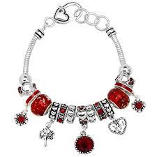 pandora bracelet murano beads images Garnet january birthstone charm bracelet murano beads pandora jpg