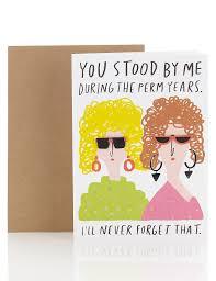perm years humour birthday card m u0026s