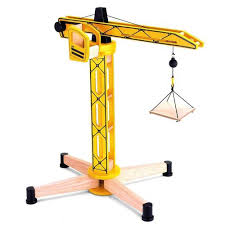 wooden toy construction tower crane by tidlo t 0240 toys