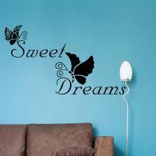 online get cheap wall sticker quotes dreams aliexpress com vinilos paredes sweet dreams quote wall stickers butterfly decal sticker quotes bedroom decorative home decoration art