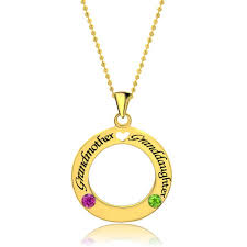 grandmother and granddaughter necklaces circle necklace custom made name pendant necklace