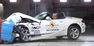 bugatti crash test lancia ypsilon catches fire during euroncap crash test bmw z4