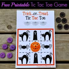 east coast mommy printable halloween tic tac toe candy free treat